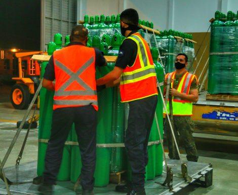 Rondônia recebe mais 80 cilindros de oxigênio para abastecimento de hospitais municipais