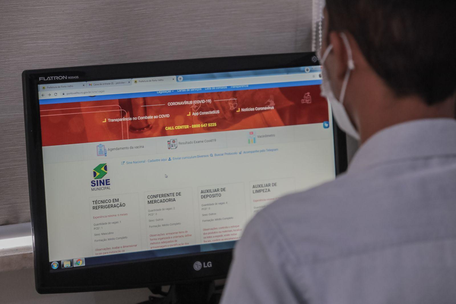 Sine Municipal disponibiliza 125 oportunidades de trabalho em Porto Velho