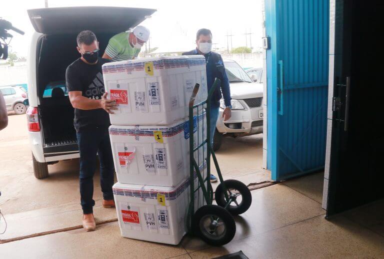 Ministério da Saúde envia a 21ª remessa de imunizantes contra a covid-19 para Rondônia