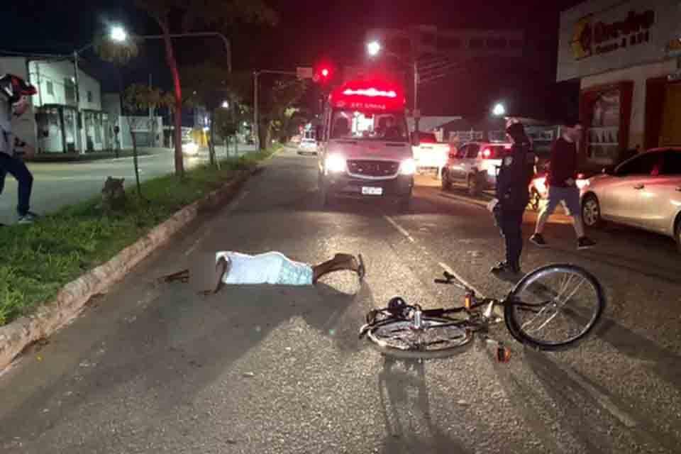 Ciclista fica em estado grave ao ser atropelado por motoboy em Porto Velho