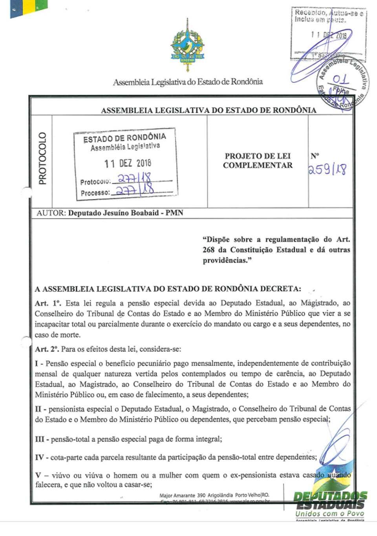 Justiça e impede pensão especial a deputados estaduais, juízes, conselheiros do TCE e membros do MP
