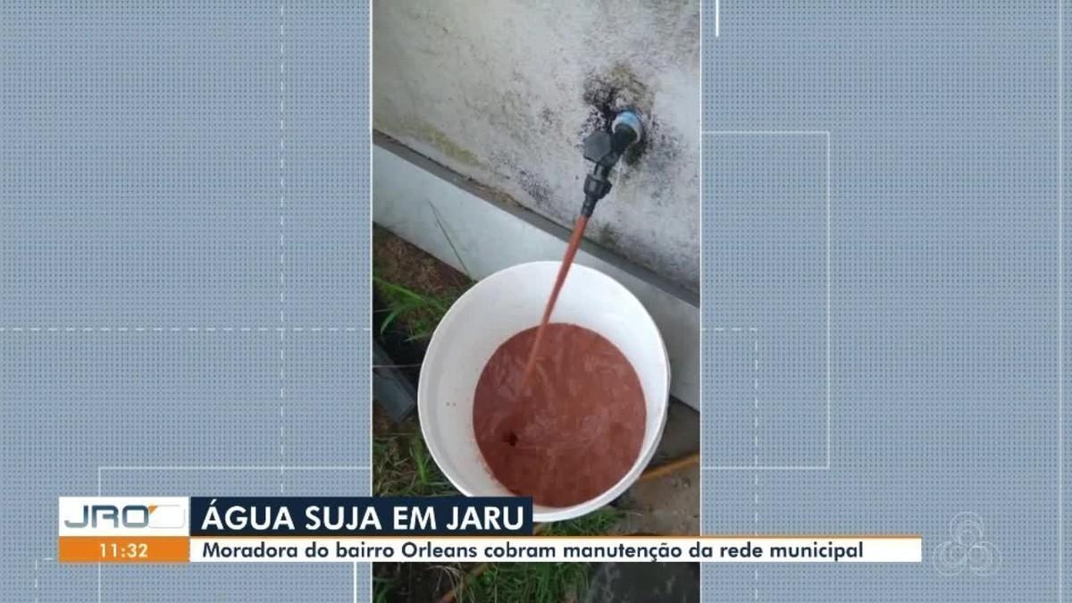 Moradores de Jaru, RO, denunciam má qualidade da água