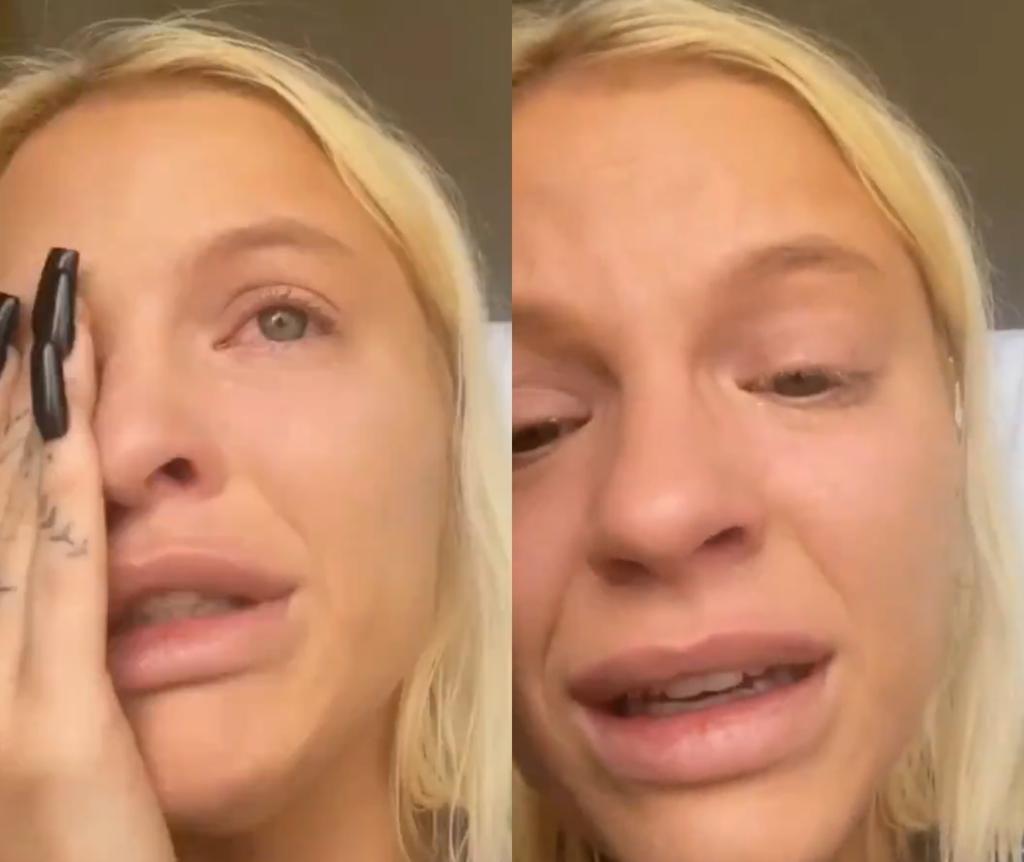 Luísa Sonza chora após receber ataques por morte de filho de Whindersson