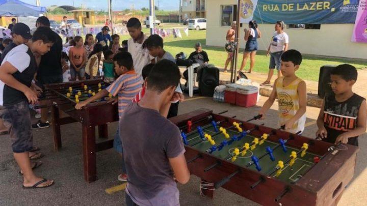 Prefeitura retorna com o Projeto Rua de Lazer nos bairros de Porto Velho