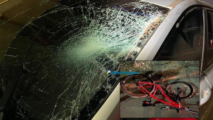Ciclista fica em estado grave após acidente na capital