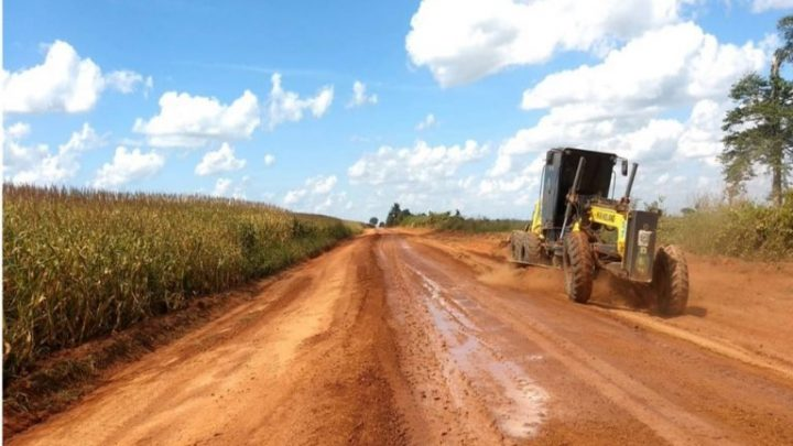 DER executa serviços de manutenção nos 85 quilômetros da Rodovia da Soja, na região do Cone Sul de Rondônia